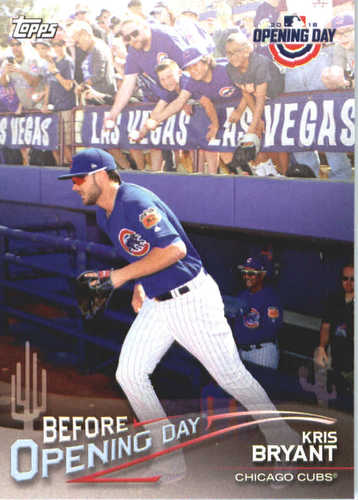 Photo of 2018 Topps Opening Day Before Opening Day #BODKB Kris Bryant