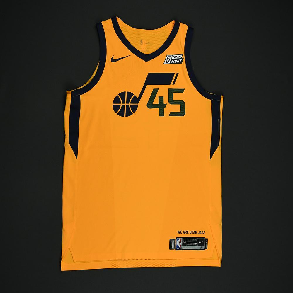new styles 44192 d02f4 Donovan Mitchell - Utah Jazz - Game-Worn 'Statement' Jersey ...