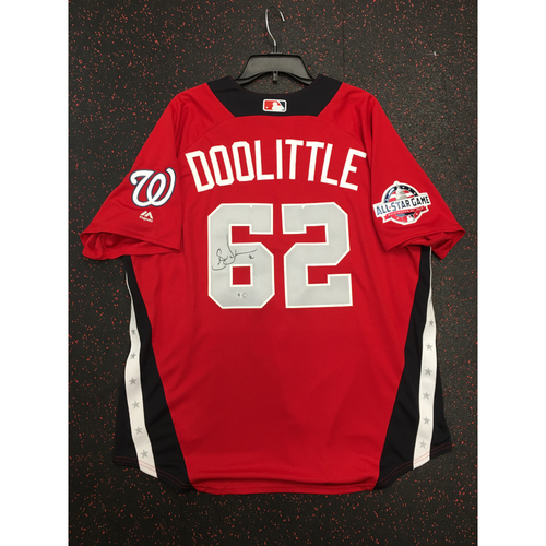 Photo of Sean Doolittle 2018 Major League Baseball Workout Day Autographed Jersey