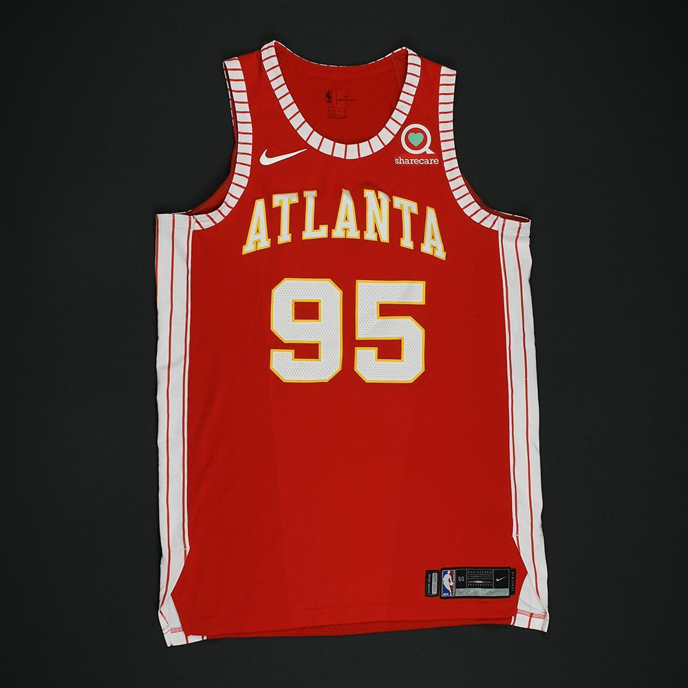DeAndre' Bembry - Atlanta Hawks - Game-Issued Classic Edition 1970-72 Road Style Jersey - 2017-18 Season