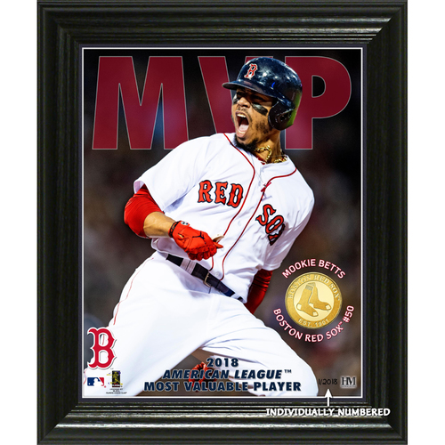 "Photo of Mookie Betts 2018 AL MVP ""Elite Series"" Bronze Coin Photo Mint"