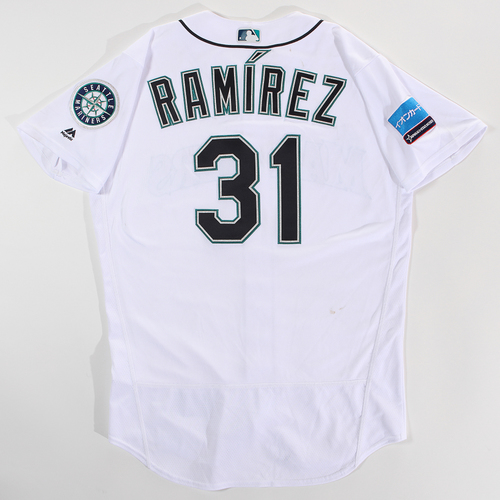 Photo of 2018 Japan Series Game-Used Jersey - Erasmo Ramirez - Size 46