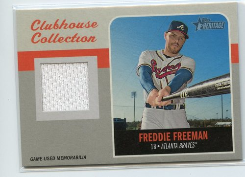 Photo of 2019 Topps Heritage Clubhouse Collection Relics #CCRFF Freddie Freeman