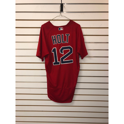 Photo of Brock Holt Team-Issued 2019 Spring Training Jersey