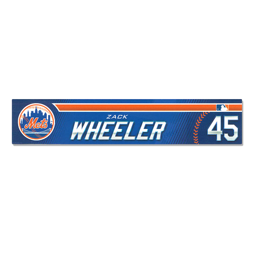 Photo of Zack Wheeler #45 - Game Used 2019 Spring Training Locker Nameplate - Mets vs. Astros - 2/24/2019