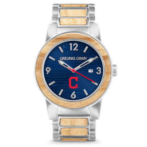 Photo of Cleveland Indians - Reclaimed Baseball Bat Watch