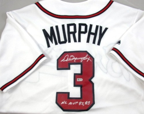 "Photo of Dale Murphy Autographed Atlanta Braves Jersey with ""82-83 NL MVP"" Inscription"