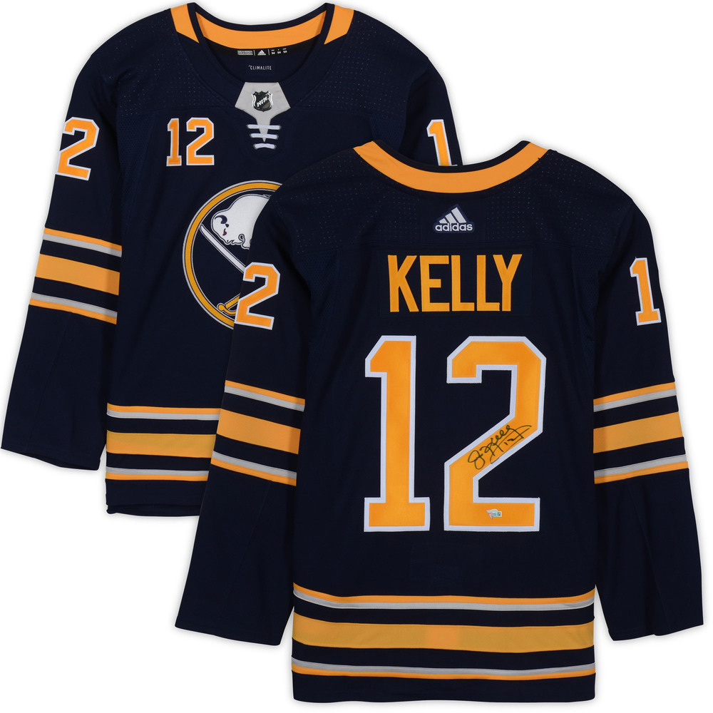 Jim Kelly Buffalo Bills Autographed Buffalo Sabres Adidas Authentic Jersey - NHL Auctions Exclusive