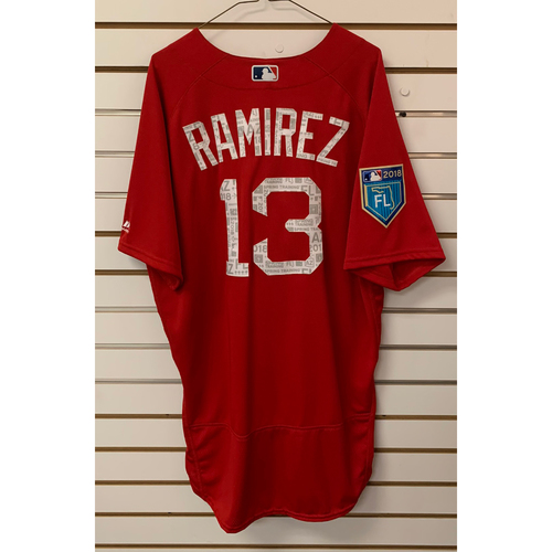 Photo of Hanley Ramirez Team Issued 2018 Spring Training Jersey