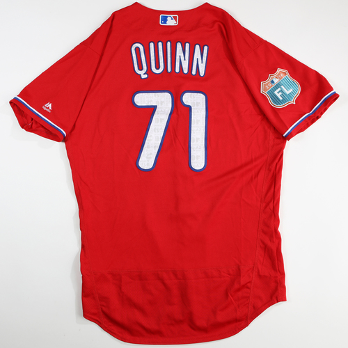Photo of 2016 Spring Training - Spring Training Game Used Jersey - Roman Quinn (Phillies)- Size- 44