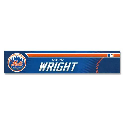 Photo of David Wright #5 - Game Used Locker Nameplate - Mets vs. Astros - 2/24/19 - 2019 Spring Training