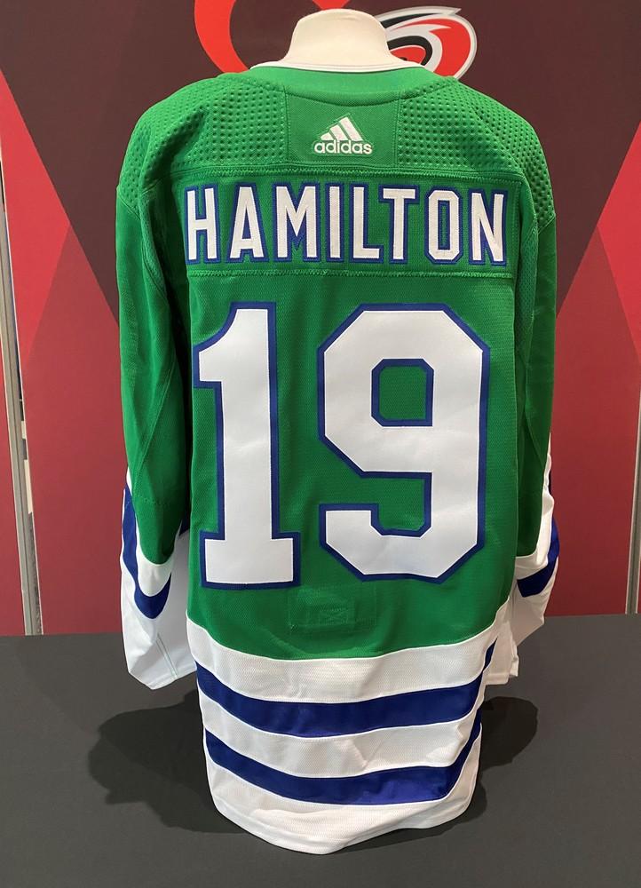 Dougie Hamilton #19 , game-worn Whalers jersey