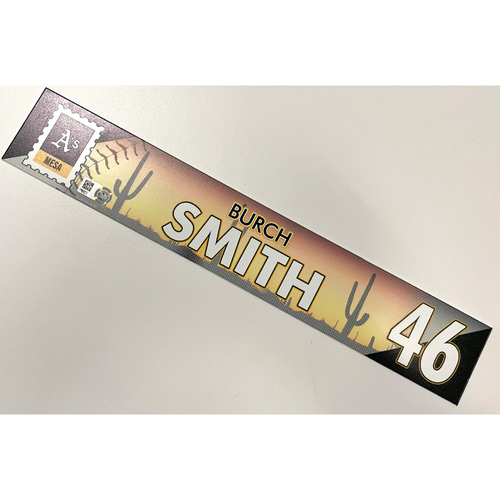 Game-Used 2021 Spring Training Locker Nameplate - Burch Smith