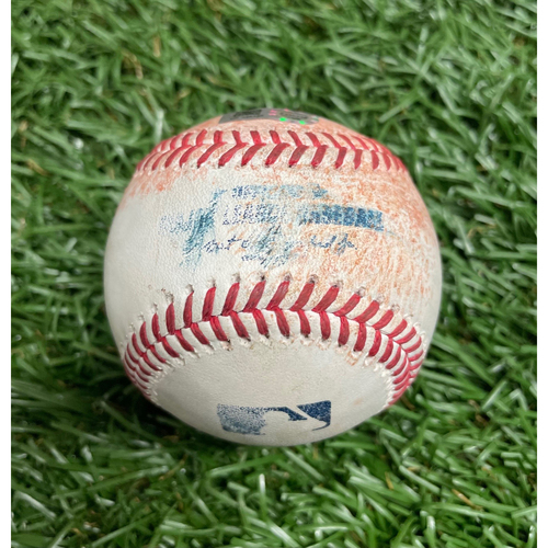 Photo of Game Used Baseball: Yandy Diaz double off Steven Matz - Bottom 1 - April 23, 2021 v TOR