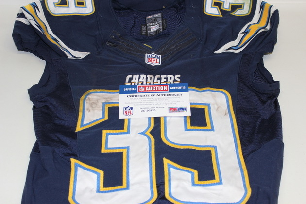 CHARGERS DANNY WOODHEAD GAME USED