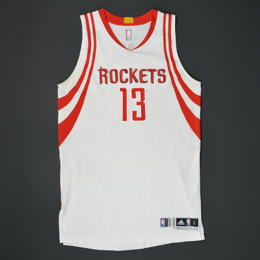 huge discount 00d87 085fb James Harden - Houston Rockets - Game-Worn Jersey - 2015-16 ...