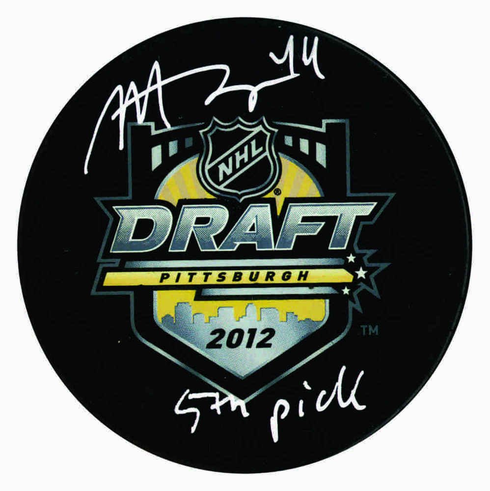 Morgan Rielly - Signed 2012 Draft Puck - Inscribed