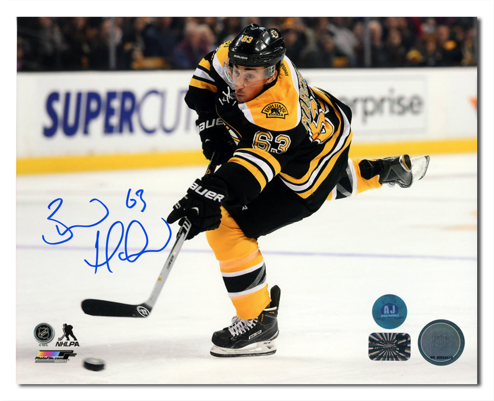 Brad Marchand Boston Bruins Autographed Hockey Sniper 8x10 Photo