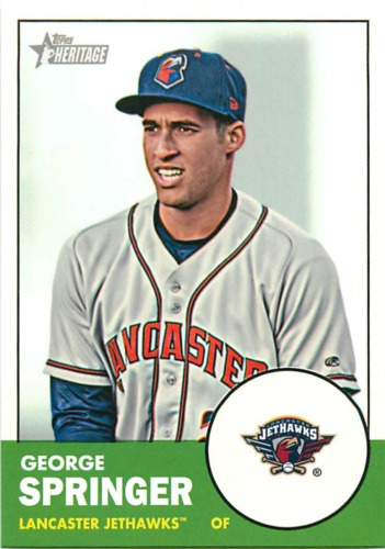 Photo of 2012 Topps Heritage Minors #80 George Springer  Pre-Rookie Card