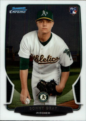 Photo of 2013 Bowman Chrome Draft #7 Sonny Gray Rookie Card