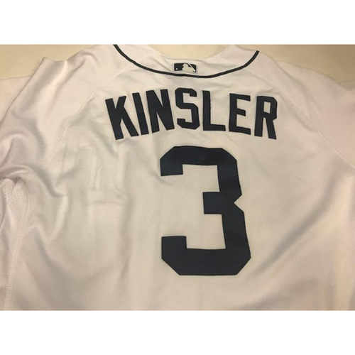 2017 Game-Used Ian Kinsler Home Jersey