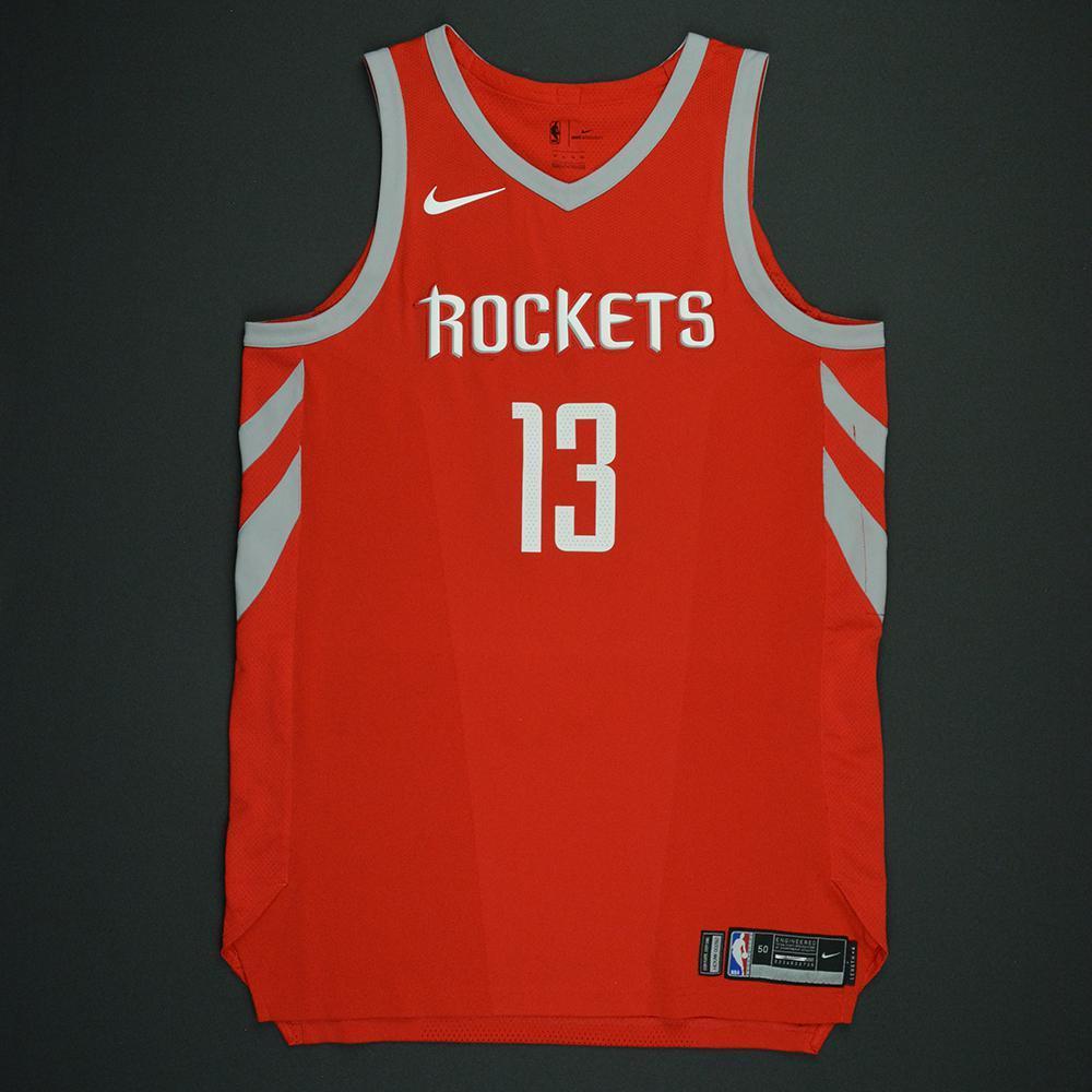 buy online 0b8b6 9de34 James Harden - Houston Rockets - Opening Night Game-Worn ...