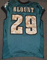 EAGLES - LE'GARRETTE BLOUNT SALUTE TO SERVICE SIGNED PRACTICE WORN JERSEY NOVEMBER 2017 WITH CAMO NUMBERS