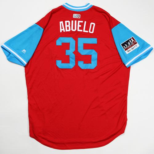 "Photo of Jim ""Abuelo"" Gott Philadelphia Phillies Team Issued Jersey 2018 Players' Weekend Jersey"