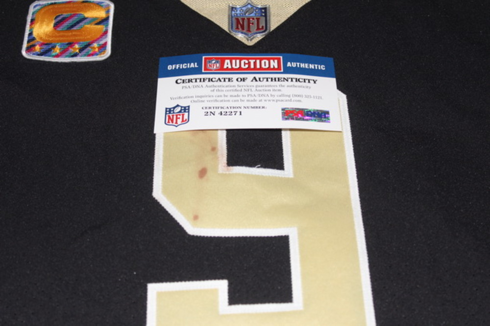 check out bb902 82e1f NFL Auction | Crucial Catch - Saints Drew Brees game worn ...