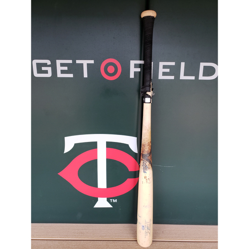 Photo of 2018 Mitch Garver Game-Used Broken Bat Used by Robbie Grossman