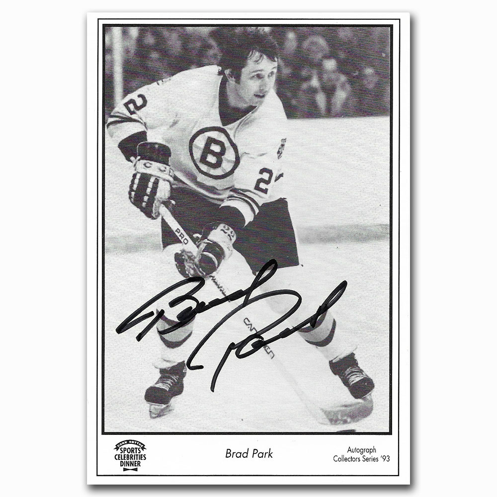 Brad Park Autographed 1993 Conn Smythe Dinner 4X6 Promo Card