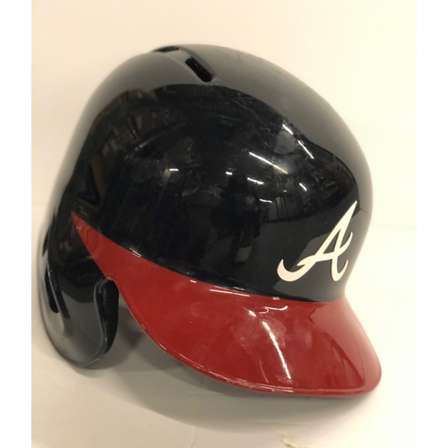 Photo of Lucas Duda Game-Used Postseason Batting Helmet - Worn 10/7/18 and 10/8/18 - Size 7 1/2