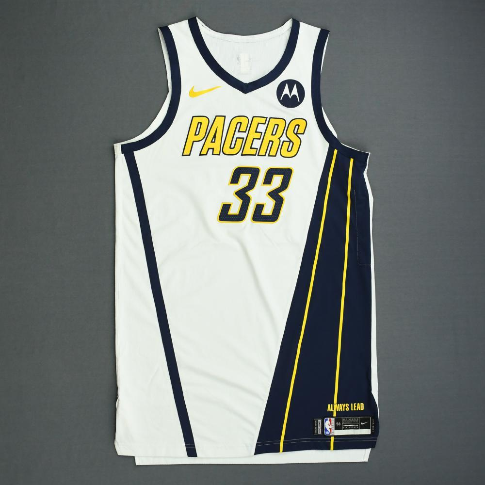 f3ca35f9909 Myles Turner - Indiana Pacers - Game-Worn Earned Edition Jersey - 2019  Playoffs