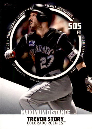 Photo of 2019 Topps Significant Statistics #SS4 Trevor Story