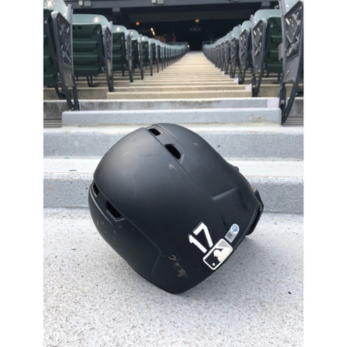 Photo of Ryan Goins 2019 Team Issued Black Matte Batting Helmet