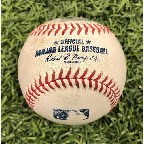 Photo of Game Used Baseball: Enrique Hernandez single off Yonny Chirinos - May 22, 2019 v LAD