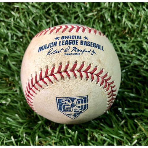 Photo of 20th Anniversary Opening Day Game Used Baseball: Hanley Ramirez foul ball off Chris Archer - March 29, 2018 v BOS
