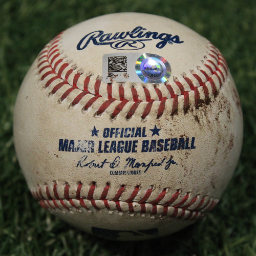 Photo of Game-Used Baseball: Wilson Contreras 403rd Career Hit (CHC @ KC 8/5/20)