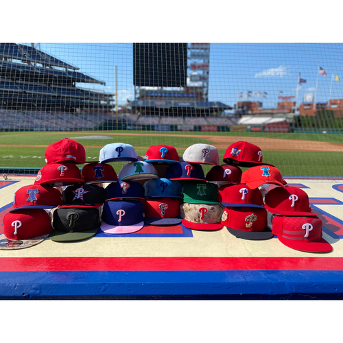 Photo of Phillies Clubhouse Caps- Set of 30 Authentic Phillies Hats