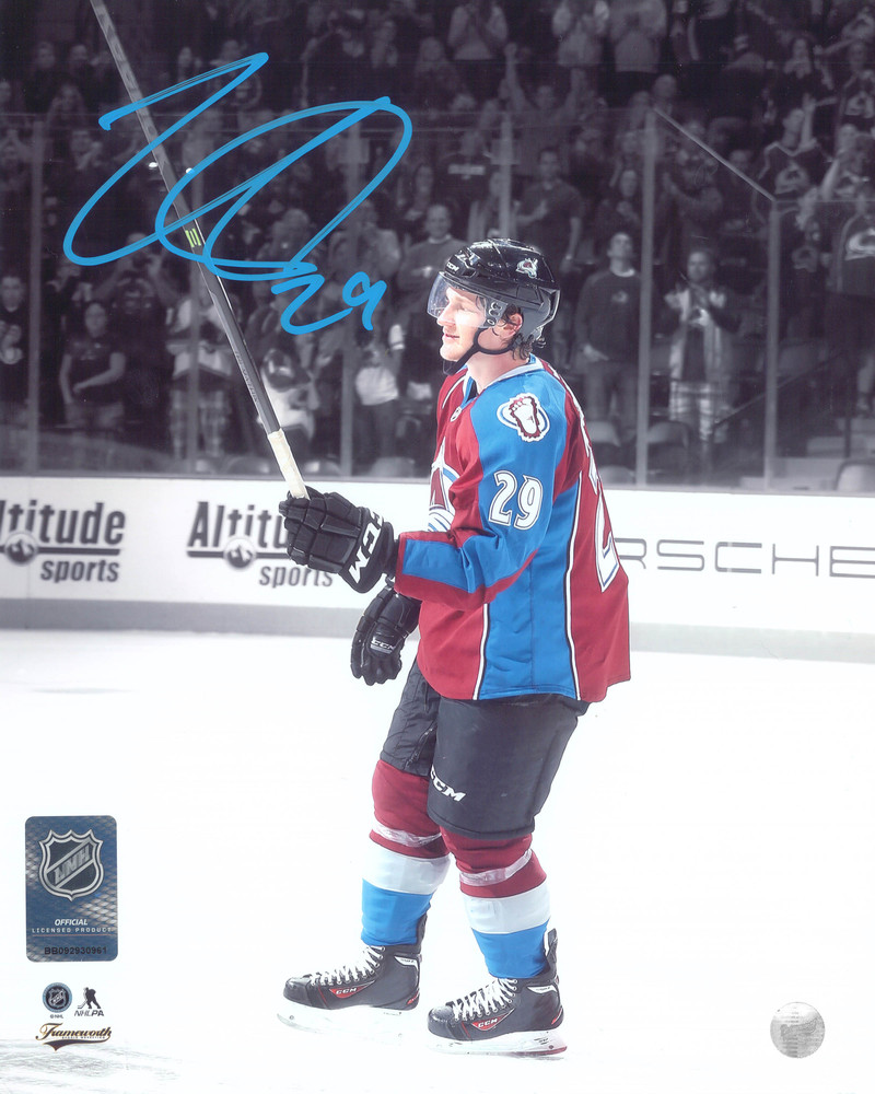 Nathan Mackinnon Signed 8x10 Unframed Avalanche First Game