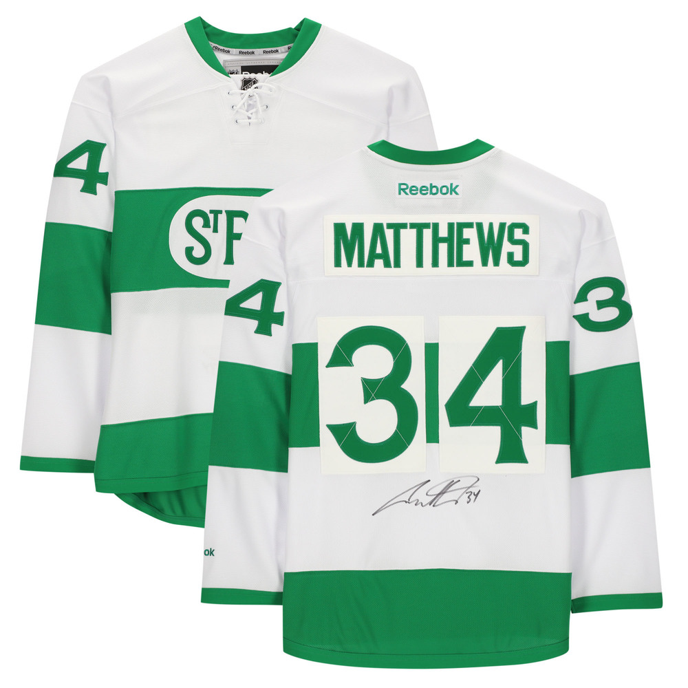 Auston Matthews Toronto Maple Leafs Autographed Toronto St. Pats Reebok Premier Jersey - NHL Auctions Exclusive