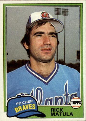 Photo of 1981 Topps #611 Rick Matula DP
