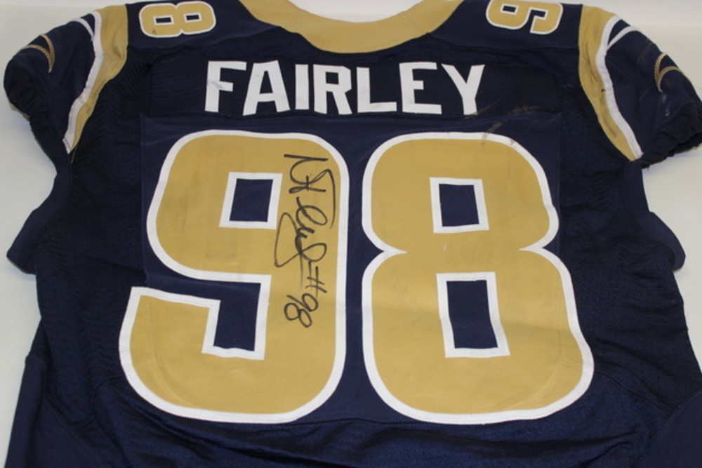 BCA - RAMS NICK FAIRLEY GAME WORN AND SIGNED RAMS JERSEY (OCTOBER 25, 2015)
