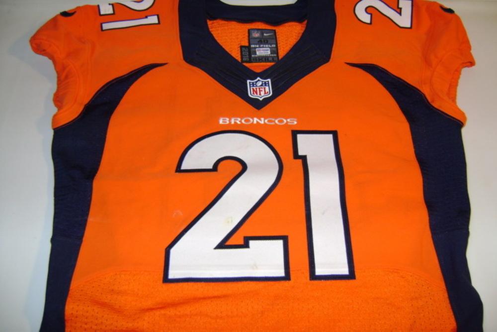 check out 51fdc 1580a NFL Auction | BCA - BRONCOS AQIB TALIB GAME WORN BRONCOS ...