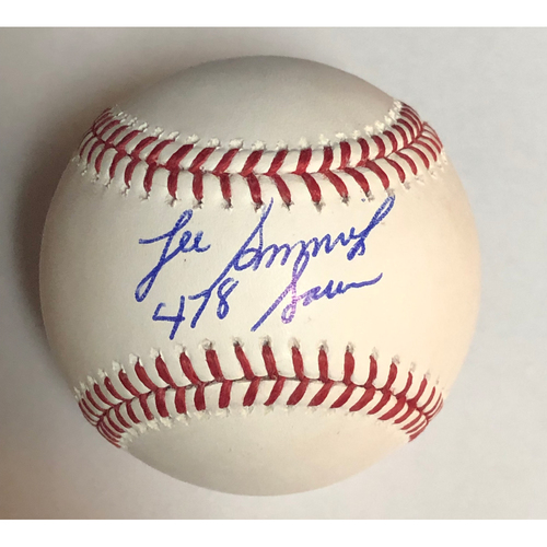 "Photo of Lee Smith ""478 Saves"" Autographed Baseball"