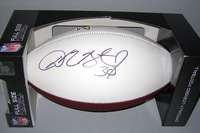 REDSKINS - DAVID BRUTON SIGNED PANEL BALL W/ REDSKINS LOGO