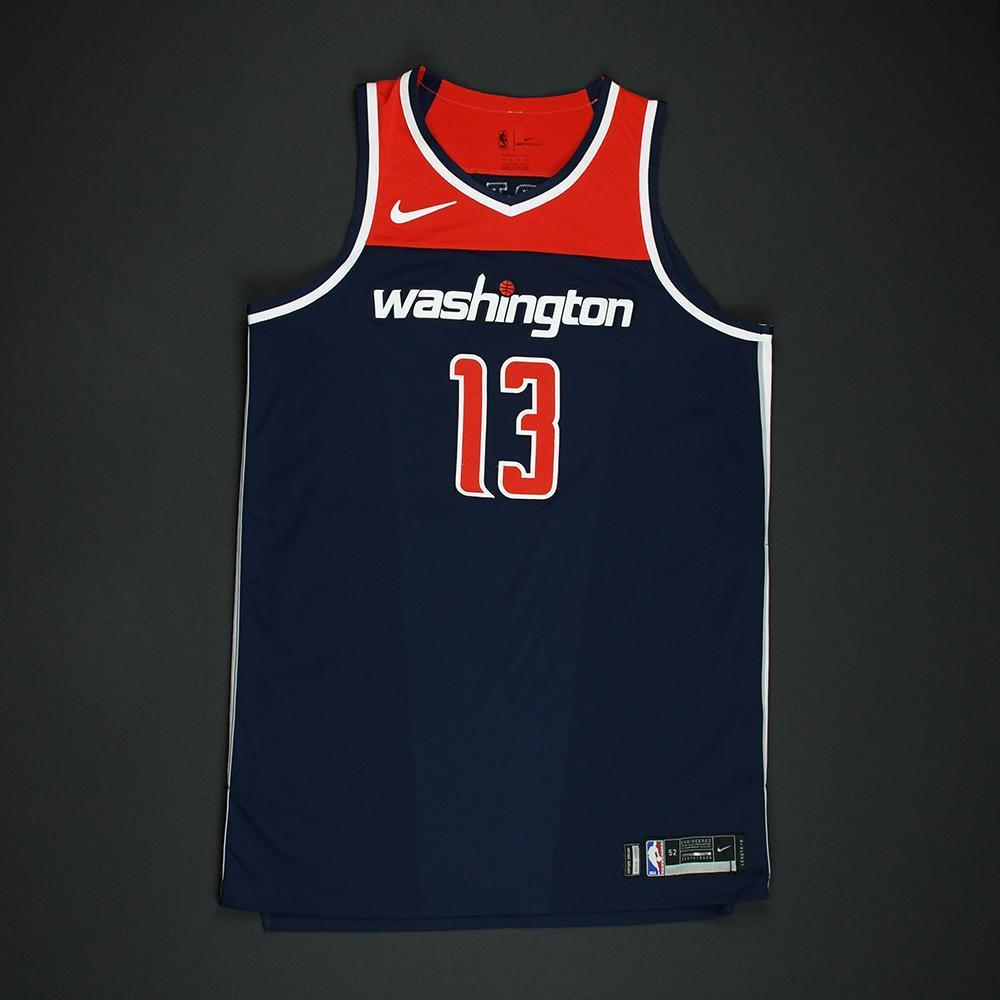 Marcin Gortat - Washington Wizards - 2018 NBA Playoffs Game-Worn 'Statement' Jersey