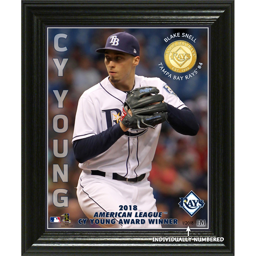 "Photo of Blake Snell 2018 AL Cy Young ""Elite Series"" Bronze Coin Photo Mint"