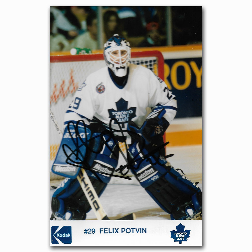 Felix Potvin Autographed Toronto Maple Leafs 4X6 Photo