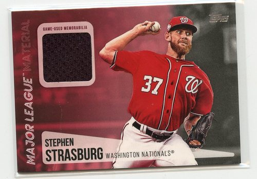 Photo of 2019 Topps Major League Materials #MLMSS Stephen Strasburg S2